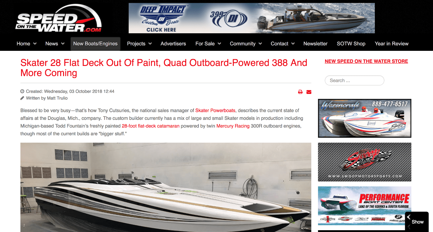 Skater In the News – Skater Powerboats